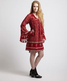 Look at this Free People Cherry Nomad Dress on #zulily today!