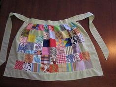 Patchwork vintage 50's kitchen apron primitive home by wkingsbury, $4.99