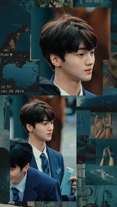 Lockscreen//Wallpaper Cha Junho Produce X Entertainment Woollim Entertainment, Produce 101, Cha Eun Woo, Pastel Wallpaper, Kpop Fanart, Korean Outfits, King Queen, Aesthetic Wallpapers, Monsta X