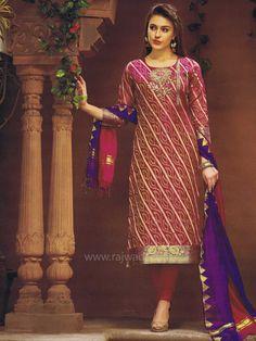 Brocade Silk Churidar Suit in Magenta color... #readytowear #suit #rajwadi #partywear #churidarsuitonline #designersuits #casualwear