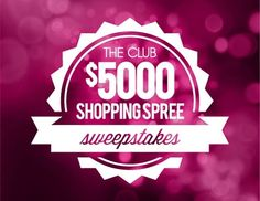 Enter to win a $5000 Shopping Spree #sweepstakes ends 6/30/14