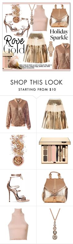"""So Pretty * Rose Gold Jewelry"" by calamity-jane-always ❤ liked on Polyvore featuring Sans Souci, Proenza Schouler, In Your Dreams, A.L.C., Karen Millen, Burberry, rosegold and fashionset"