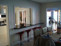 Grey Kitchen Designs, Kitchen Room Design, Living Room Kitchen, Home Decor Kitchen, Kitchen Window Bar, Kitchen Cabinets Decor, Kitchen Cupboard, Home Command Center, Cool Room Decor
