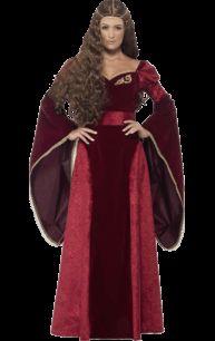 Adult Medieval Queen Deluxe Costume