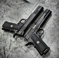 1911 x 2, pistols, guns, weapons, self defense, protection, 2nd amendment, America, firearms, munitions #guns #weapons