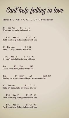 Learn how to play this song on guitar -> guitar chords with guitar lesson. post Can& Help Falling in Love Guitar Chords, Guitar Lesson appeared first on Ukulele Music Info. Ukulele Songs Beginner, Easy Guitar Songs, Guitar Chords For Songs, Uke Songs, Music Chords, Guitar Lessons, Guitar Songs For Beginners, Ukulele Art, Lyrics For Songs
