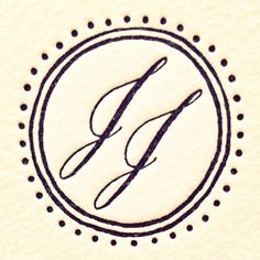 Hand lettered monogram by Maybelle
