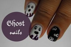 Halloween Ghost nail art tutorial