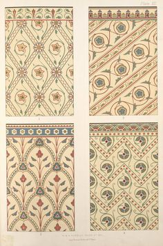 """Diaper patterns, in rich colours.... NYPL """"Ornament and Pattern: Pre-Victorian to Art..."""" p.157"""