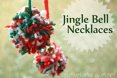 Pom Pom and Jingle Bell Necklaces ~ Creative Family Fun
