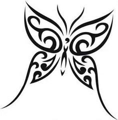 Tribal Butterfly Tattoos - I would want colour added