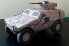 This armoured vehicle paper model is a Panhard designed by paper-panhard. The scale of the papercraft is Panhard VBL or simply VB Craft Stick Crafts, Paper Crafts, Military Party, Eden Design, Free Paper Models, Armored Vehicles, Paper Toys, Coloring Pages For Kids, Paper Design