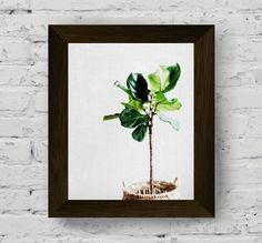 banana tree print, palm leaf wall art, leaves photography, tropical poster, minimal art, nature wall art prints, instant digital download di AlemiPrints su Etsy
