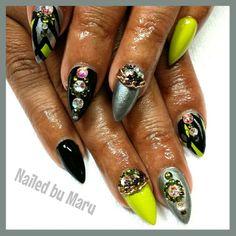 Early morning nails… let's get this day started RIGHT!! #nails #nailporn #nailedbymary #nailart #nailedbymary #treasurenails #gr...