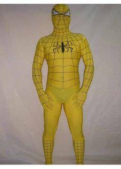 Lycra Spandex Yellow Spiderman Zentai Costume