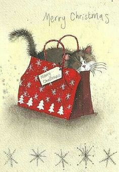 Pin by Debbie Warner on Illustrations Christmas Animals, Christmas Love, Christmas Cats, Christmas Pictures, Merry Christmas, Charity Christmas Cards, Vintage Christmas Cards, Xmas Cards, Clark Art