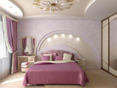 bedroom images, image search, & inspiration to browse every day. Bedroom Red, Woman Bedroom, Bedroom Colors, Bedroom Decor, Modern Bedroom Lighting, Cottage Style Bedrooms, Bedroom False Ceiling Design, Bedroom Images, Luxurious Bedrooms