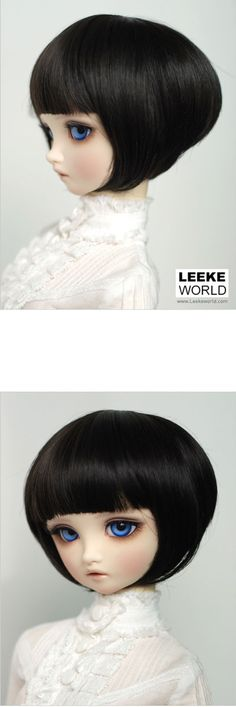 I love this doll wig, would even like the hair cut for myself! This is from a bjd website, I think it is the wig ill get for my hujoo berry doll. Leeke world