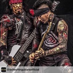 Nikki SIXX and DJ Ashba owning the stage in this awesome pic! @sixxam @nikkisixxpixx @djashba  #sixxam #djashba #nikkisixx #concert #tour #2016 #stage #rockphotography #rock #arena #rockstar #motleycrue #gunsandroses #guitar #guitarist #bassist #bassguitar #bassplayer #music #musician #show #riseup by djashba