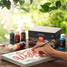 Outdoor Acrylic Paint, 59ml Bottles - Set of 20   ARTEZA Outdoor Acrylic Paint, Acrylic Paint Set, Acrylic Colors, Metallic Colors, Just Shop, How To Make Paint, Create Words, Painting On Wood, Painted Rocks