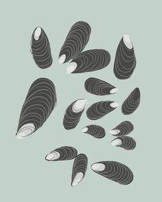 Fine Art Print.  Mussels.  October 22, 2012.. $80.00, via Etsy.