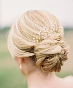 Featured Photographer: Jessica Gold Photography; Wedding hairstyle idea.