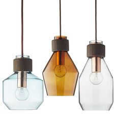 Bolia Vetro, retro hanglamp in drie vormen en kleuren