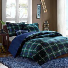 Brody Comforter Set in Blue