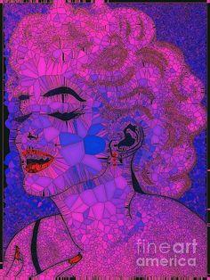 Marilyn Monroe Abstract:SaundraMylesart