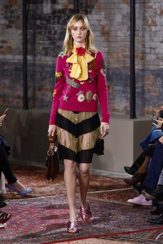 Pink, dragonfly sweater...as if a page from one of those scientific illustration books from the 1800s came to life. Gucci Resort 2016 Fashion Show