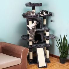 SONGMICS Cat Tree Condo with Scratching Post Pad Cat Tower Furniture House *** More info could be found at the image url. (This is an affiliate link) #CatCondoTreeTower