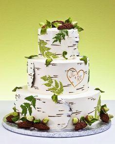 woodsy wedding cake by lynjeanne