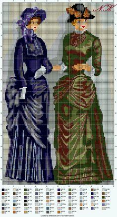 Victorian ladies in gossiping