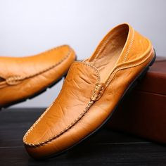 Buy Sewing Pattern Slip on Doug Shoes for Men Genuine Leather Moccasin  Loafers (US Size at Wish - Shopping Made Fun. Club Factory c46e16d4e