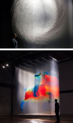 Swirling Vortexes and Ghostly Humans Emerge From Hand-Painted Transparent Sheets by David Spriggs Installation Art, Performance Art, Global Art, Painting, Sculpture Installation, Art, Uk Artist, Art Materials, Palette Knife Painting