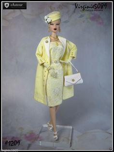 tenue outfit + accessoires pour fashion royalty barbie silkstone  vintage #1209