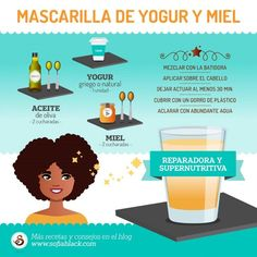 3 mascarillas caseras para devolver la salud a tus rizos Three homemade masks for curly hair, super easy to make. They repair and nourish the curls. Curly Hair Tips, Curly Hair Styles, Natural Hair Styles, White Girl Afro, Afro Hair Care, Afro Braids, Cabello Hair, Curly Afro, Curly Girl Method