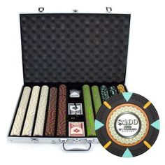 1000 Piece 'The Mint' Chip Set in Aluminum