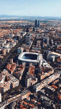 The Santiago Bernabeu Stadio, Real Madrid. Real Madrid Cr7, Real Madrid Football, Real Madrid Players, Hazard Real Madrid, Real Madrid Wallpapers, Santiago Bernabeu, Foto Madrid, Wallpaper Space, Football Stadiums