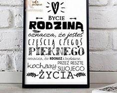 Bycie rodziną, piękny plakay do druku !   #plakat #homedecor #rodzina