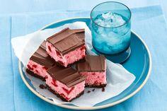 No-bake choc-cherry slice