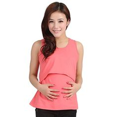 Yoyorule Pregnant Maternity Clothes Nursing Tops Breastfeeding Vest TShirt >>> You can get additional details at the image link.