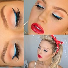Super sexy Modern Day Pin Up Makeup Tutorial by Shaaanxo with Ombre Blue Eyeliner [FULL VIDEO TUTORIAL]