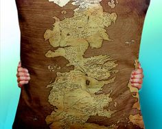 Game of Thrones Map Blue Cushion / Pillow by ThisShopReallyRocks