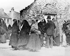 Galway: women of the Claddagh, c1890  ok....more shawls than faces