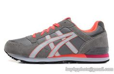 Women's Asics Sneaker Running Shoes A  Gray Orange|only US$95.00 - follow me to pick up couopons.