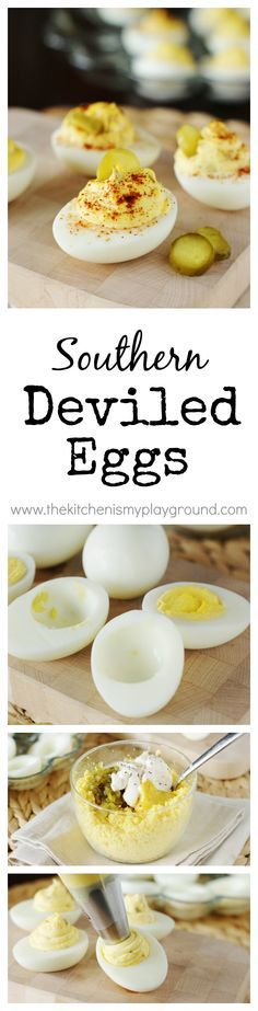 Classic Southern Deviled Eggs ~ always a potluck and party favorite.