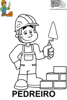 Kindergarten Jobs, Drawing Course, Art Drawings For Kids, Community Helpers, Color Crafts, Happy Kids, Adult Coloring Pages, Embroidery Designs, Crafts For Kids