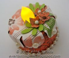 This Tea Light cake is a super easy gift to make!! I always make a matching card to go with it.