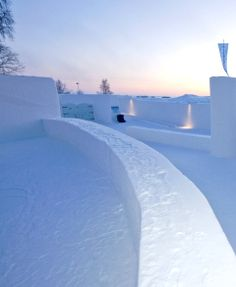 Nice Ice! — Built from scratch every winter, The SnowCastle of Kemi, Finland, is a dazzling showcase of architectonic snow-work.